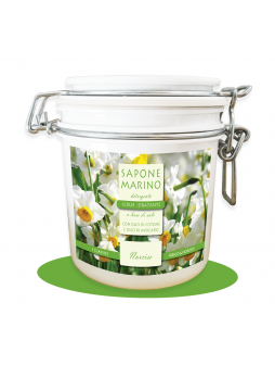 Sapone Marino Detergente Scrub Idratante Vaso 500 ml Profumo Narciso
