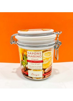 Sapone Marino Detergente Scrub Idratante Vaso 500 ml Profumo Energia Agrumi & Zenzero