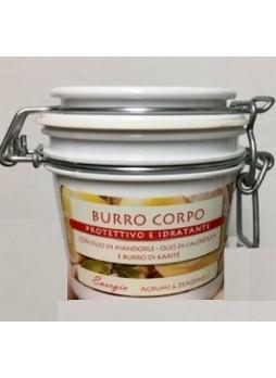TNL Burro Corpo Non Unto Vaso 200 ml Profumo Agrumi & Zenzero