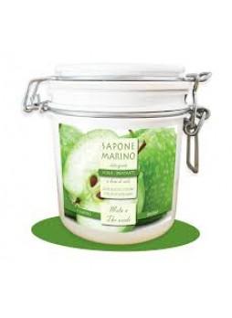 Sapone Marino Detergente Scrub Idratante Vaso 500 ml Profumo Mela & Thè Verde