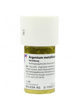 Weleda Argentum metallicum praeparatum D10 polvere 20g