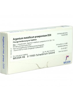 Weleda Argentum metallicum praeparatum D20 8 fiale da 1ml