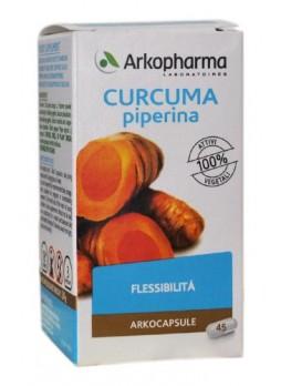 2X Arkopharm Curcuma e Piperina 45 cps (2 confez.)