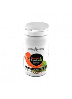 2X Erbavita Curcuma & Piperina Complex con Garcinia 60 cps (2 confez.)