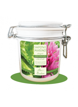 Sapone Marino Detergente Scrub Idratante Vaso 500 ml Profumo Aloe & Bardana