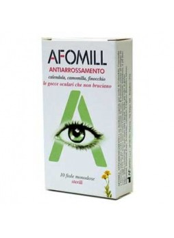 Afomill collirio gocce oculari antiarrossamento 10 fiale monodose
