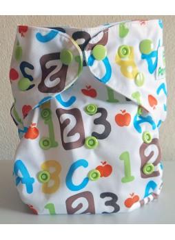 Pannolindo Pannolino Lavabile Starter Kit modello fantasia lettere e numeri