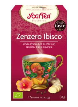 Yogi Tea Zenzero e Ibisco Bio 17 bustine